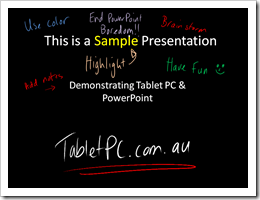 PowerPoint and Tablet PC