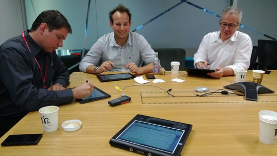 Microsoft Windows 8 Tablet Meeting