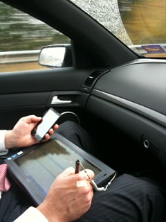 Motion J3600 rugged tablet in use