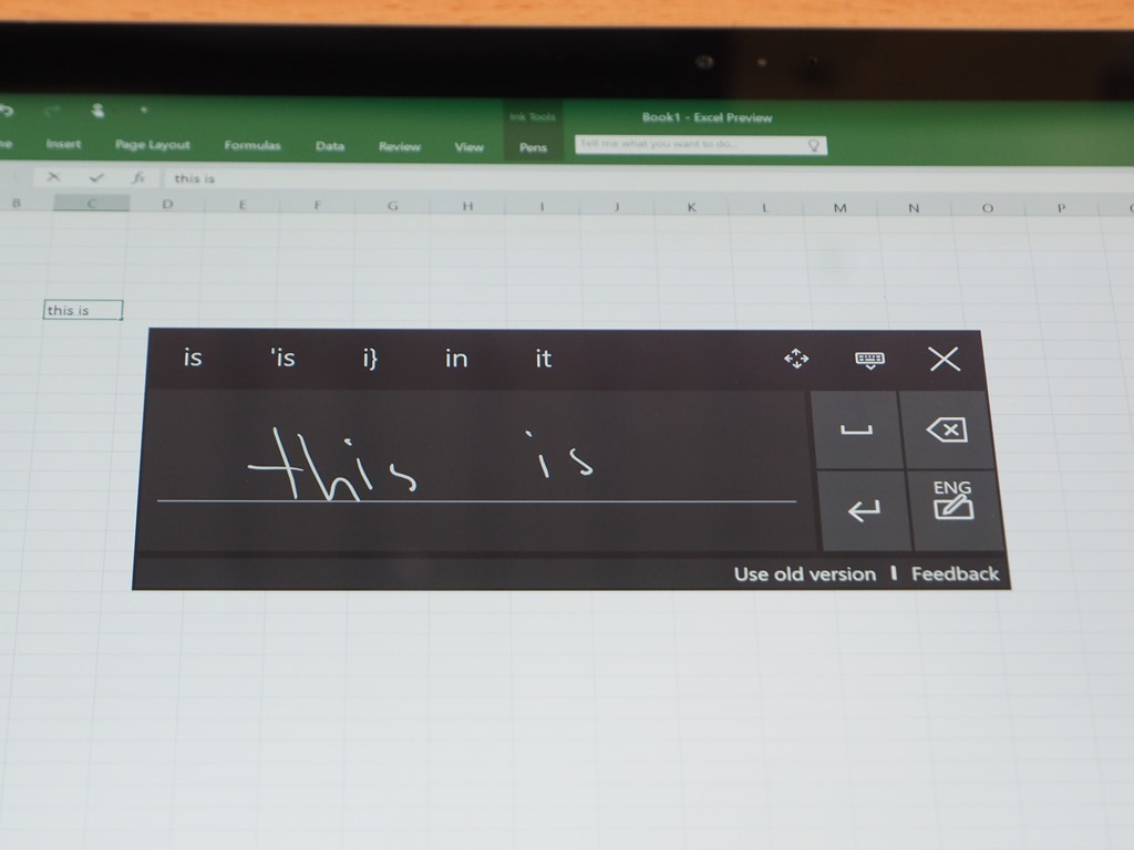early preview of new handwriting recognition interface for windows 10 tablets microsoft. Black Bedroom Furniture Sets. Home Design Ideas