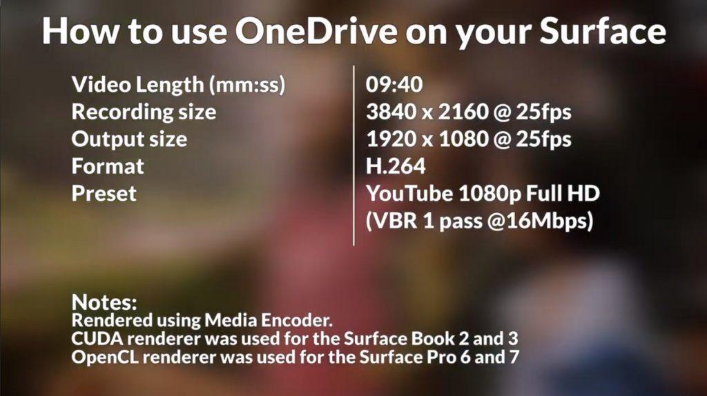 Onedrive Video settings