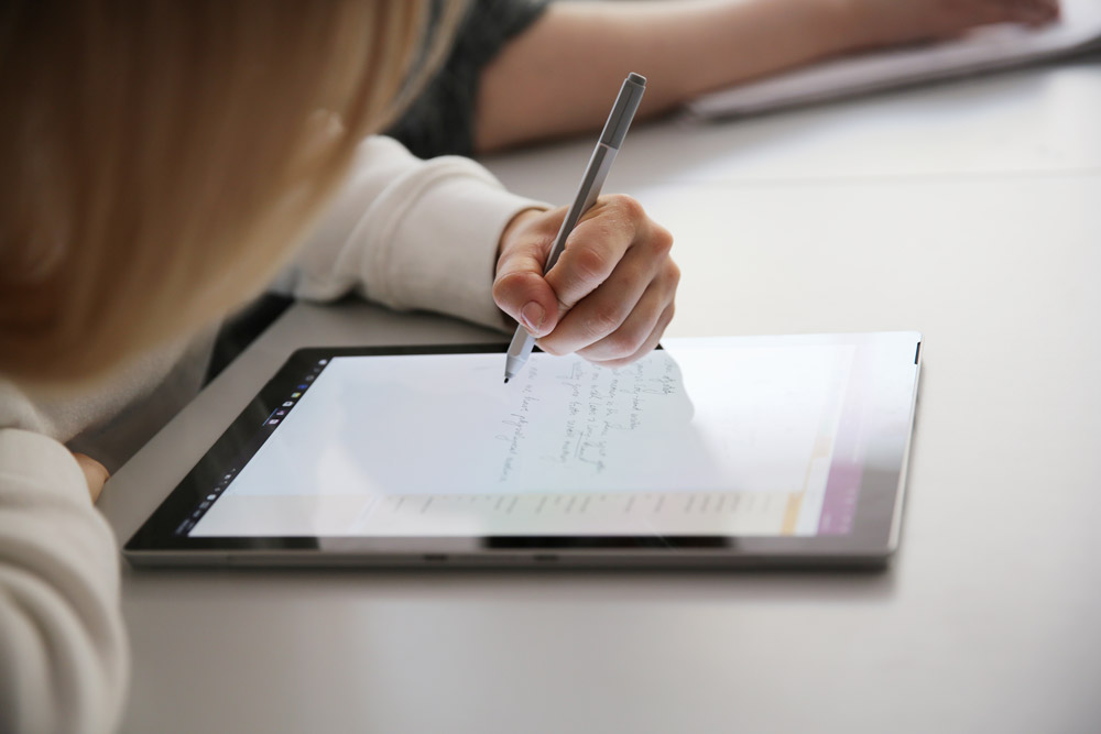 Writing on a screen