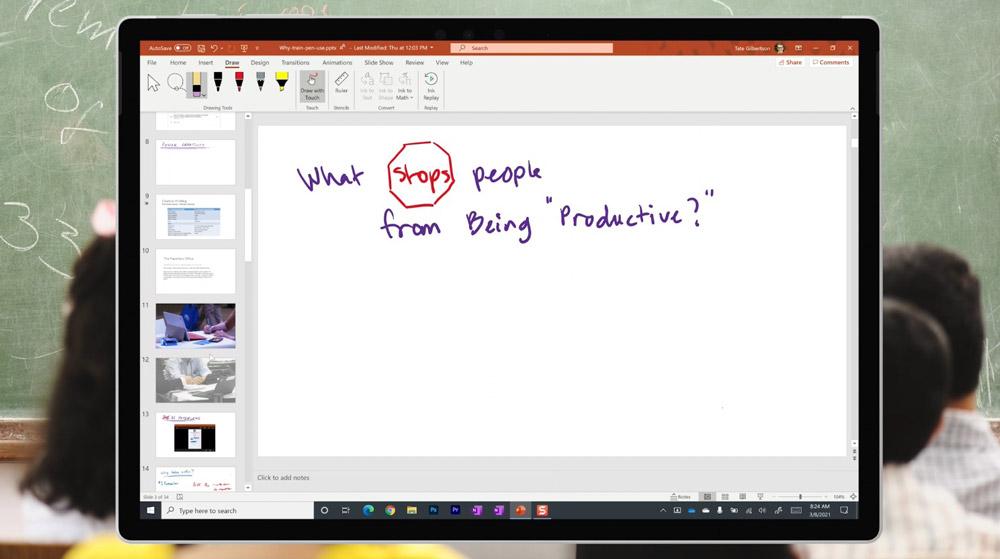 Decluttered PowerPoint Slide